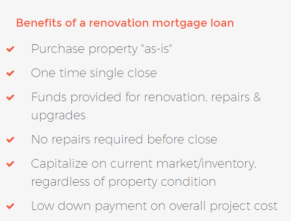 renovation loan program - benefits