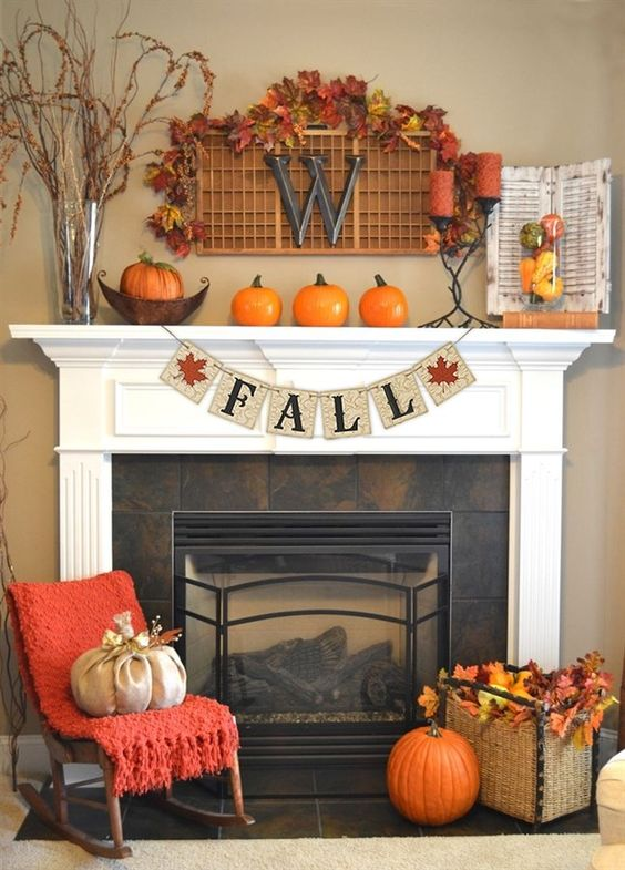 fall - fireplace