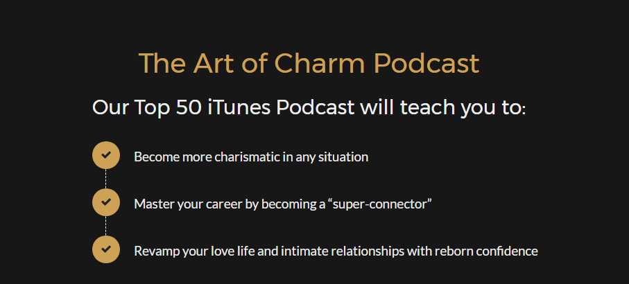 motivational podcasts - art of charm