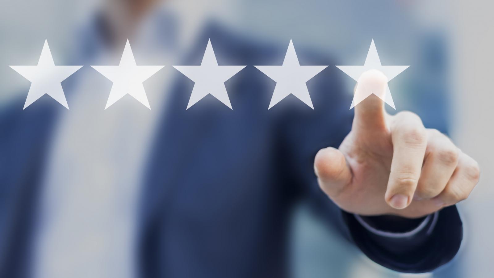 google reviews - stars