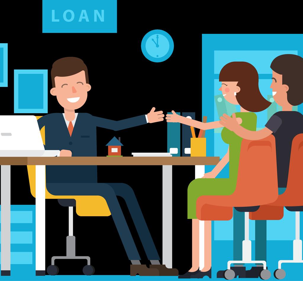 El proceso de préstamo es tan fácil en Sun American Mortgage al comprar una casa